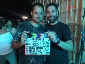 Kiko Martínez (productor) junto a Denis Rovira (director).