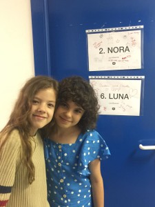Las benjaminas del equipo Claudia Placer y Daniela Rubio.